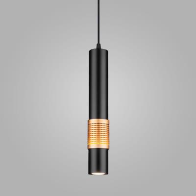 Подвесной светодиодный светильник DLN001 MR16 черный матовый/золото DLN001 MR16