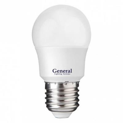 Лампочка светодиодная General, GLDEN-G45F-7-230-E27-4500, 7W, E27 (упаковка 6 штук) 639800-6