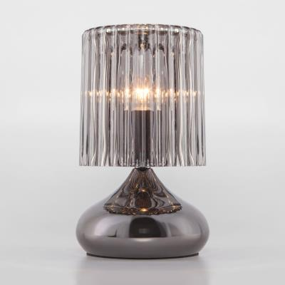 Настольная лампа со стеклянным абажуром 01068/1 черный жемчуг 01068/1