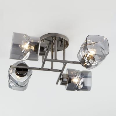 Потолочная люстра со стеклянными плафонами 30165/4 черный жемчуг 30165/4