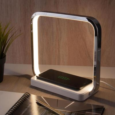 Светодиодная настольная лампа с беспроводной зарядкой QI 80502/1 хром 80502/1