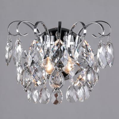 Бра классическое с хрусталем Eurosvet Crystal 10081/2 хром/прозрачный хрусталь Strotskis 10081/2