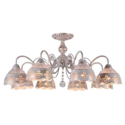 Люстра потолочная Arte Lamp SICILIA A9106PL-8WG 8x40Вт E14 A9106PL-8WG