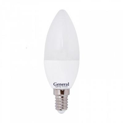 Лампочка светодиодная General, GLDEN-CF-7-230-E14-4500, 7W, E14 638000