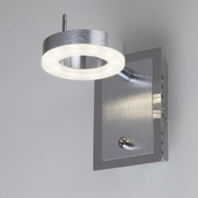 Светодиодный настенный светильник с поворотными плафонами Eurosvet Wheel 20001/1 алюминий 20001/1