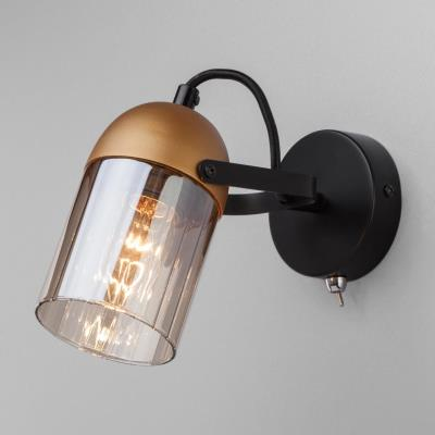 Настенный светильник с поворотным плафоном Eurosvet Mars 20122/1 черный/золото 20122/1