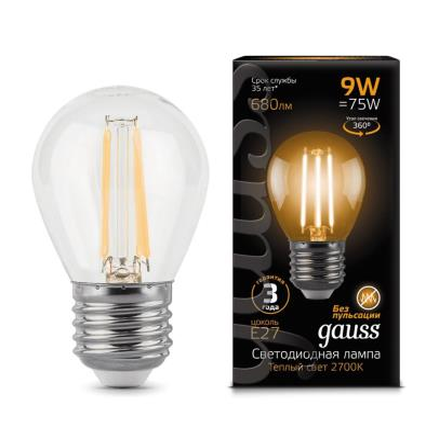 Лампочка светодиодная Gauss, 105802109, 9W, E27 105802109