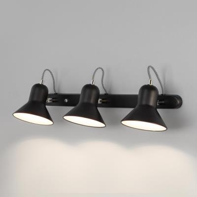 Настенный светильник с поворотными плафонами Eurosvet Canotier 20083/3 черный/хром 20083/3