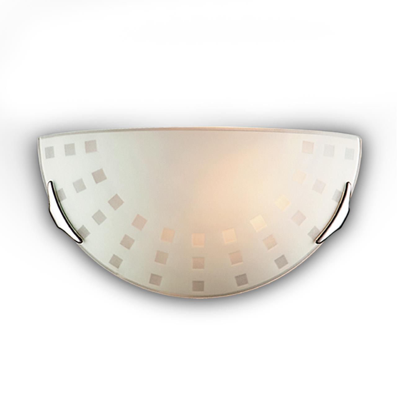 062 SN 103 бра QUADRO WHITE стекло E27 1*100Вт 300х160