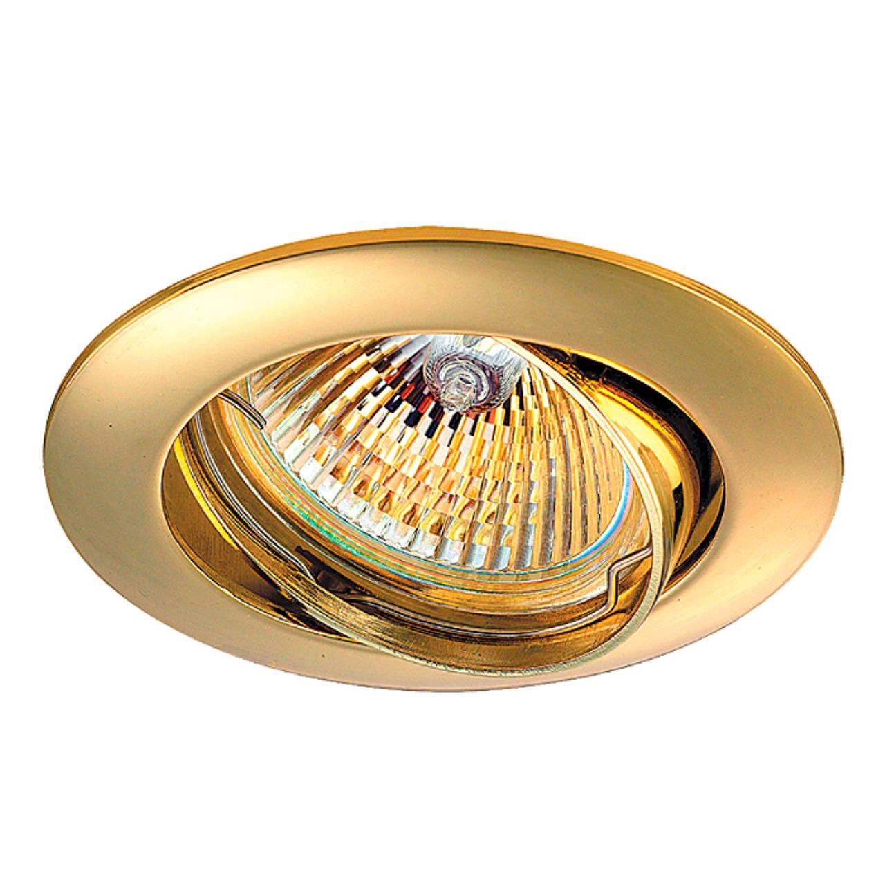 369102 SPOT NT09 135 золото Встраиваемый светильник IP20 GX5.3 50W 12V CROWN