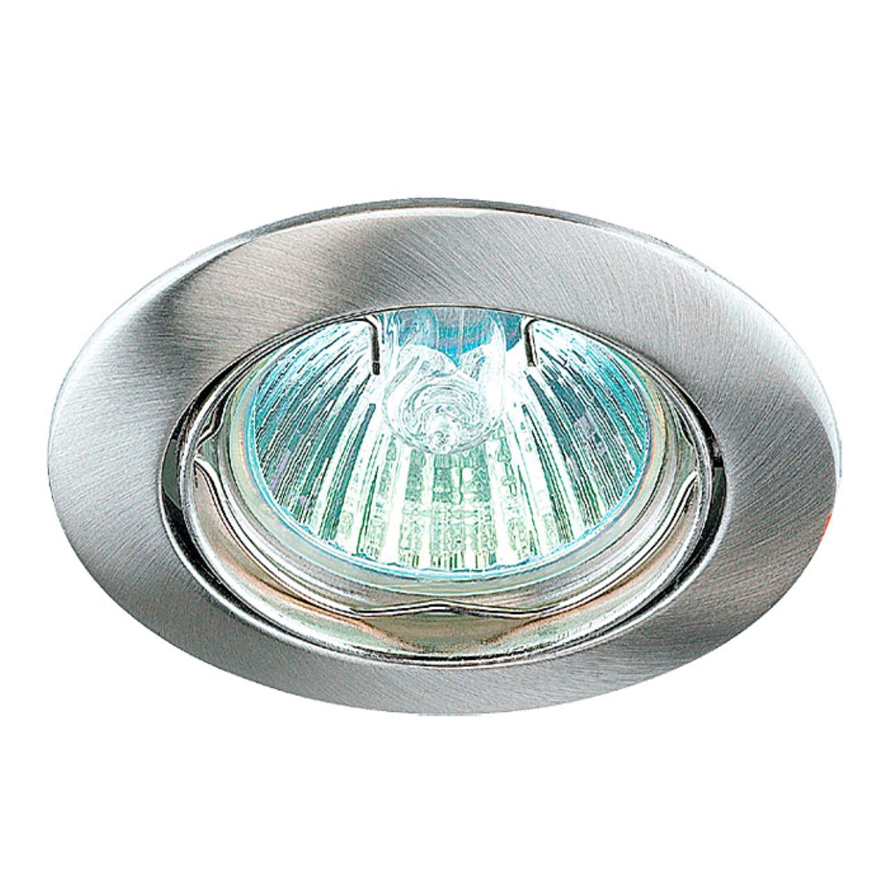 369103 SPOT NT09 135 никель Встраиваемый светильник IP20 GX5.3 50W 12V CROWN