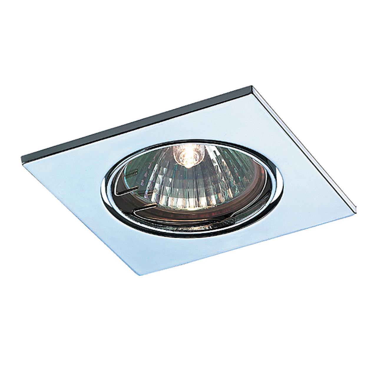 369347 SPOT NT09 131 хром Встраиваемый НП светильник IP20 GX5.3 50W 12V QUADRO