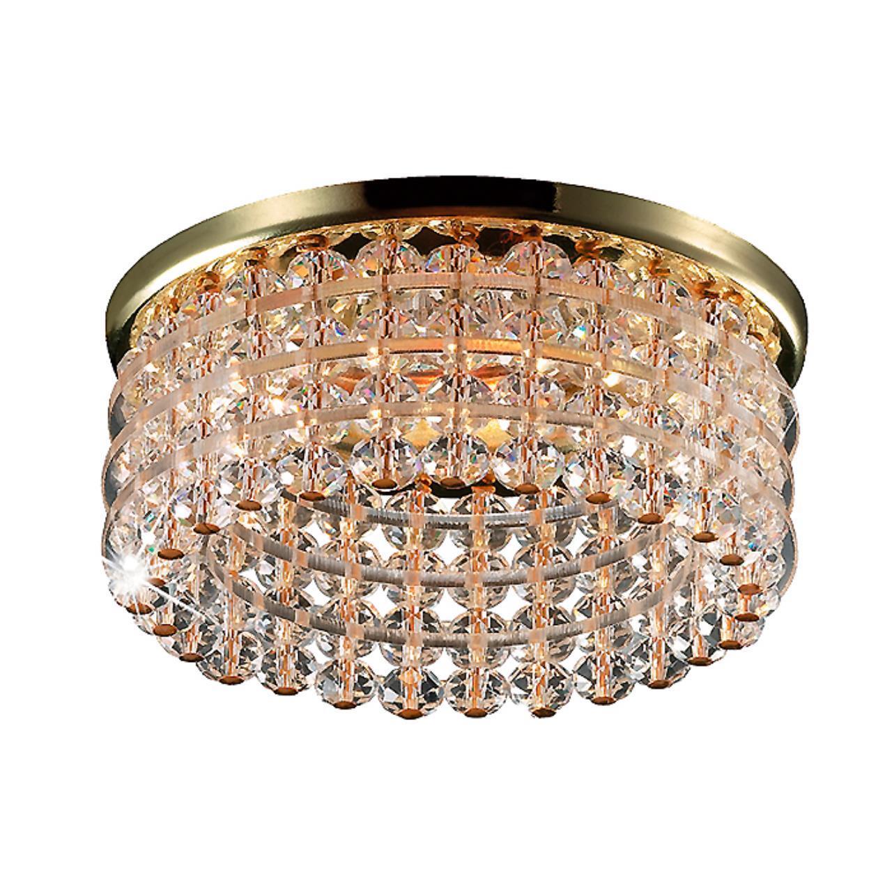 369442 SPOT NT09 122 золото/прозрачный Встраиваемый  светильник GX5.3 50W 12V PEARL ROUND