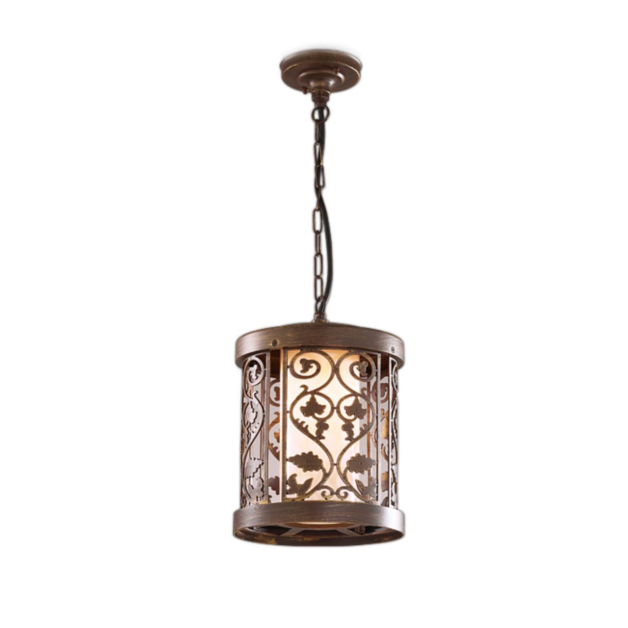 2286/1 NATURE ODL12 715 патина коричневый Уличный светильник-подвес IP44 E27 100W 220V KORDI