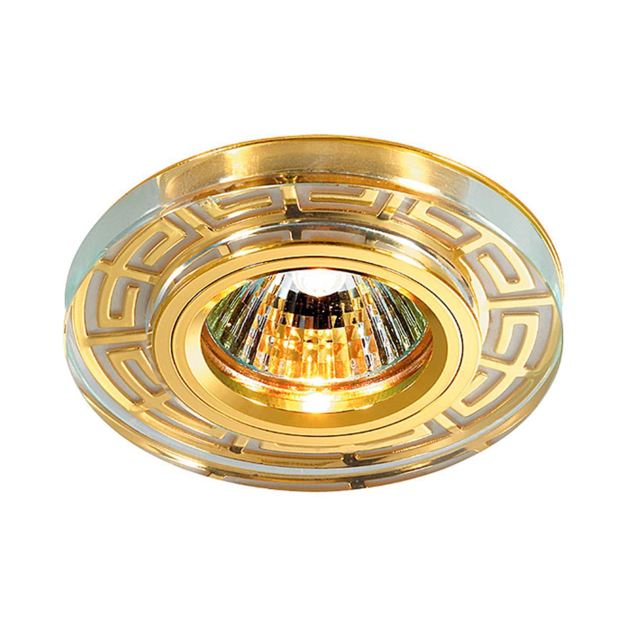 369583 SPOT NT12 127 золото Встраиваемый светильник IP20 GX5.3 50W 12V MAZE