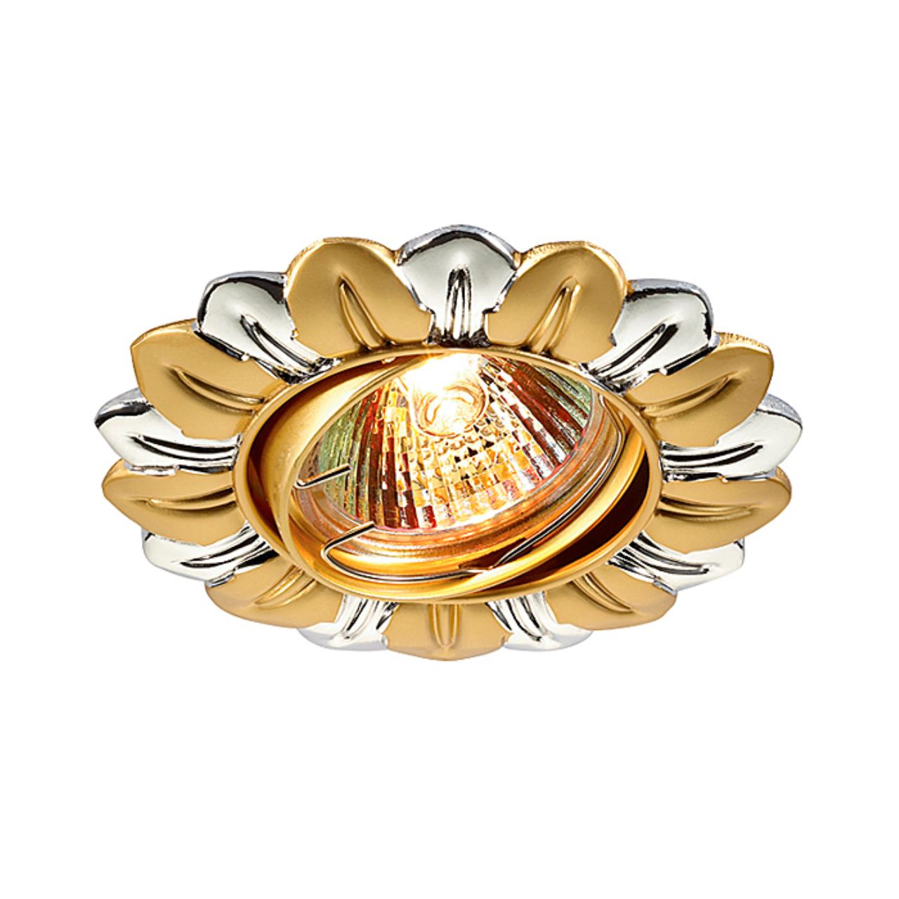 369819 NT12 194 хром/золото Встраиваемый ПВ светильник IP20 GX5.3 50W 12V FLOWER