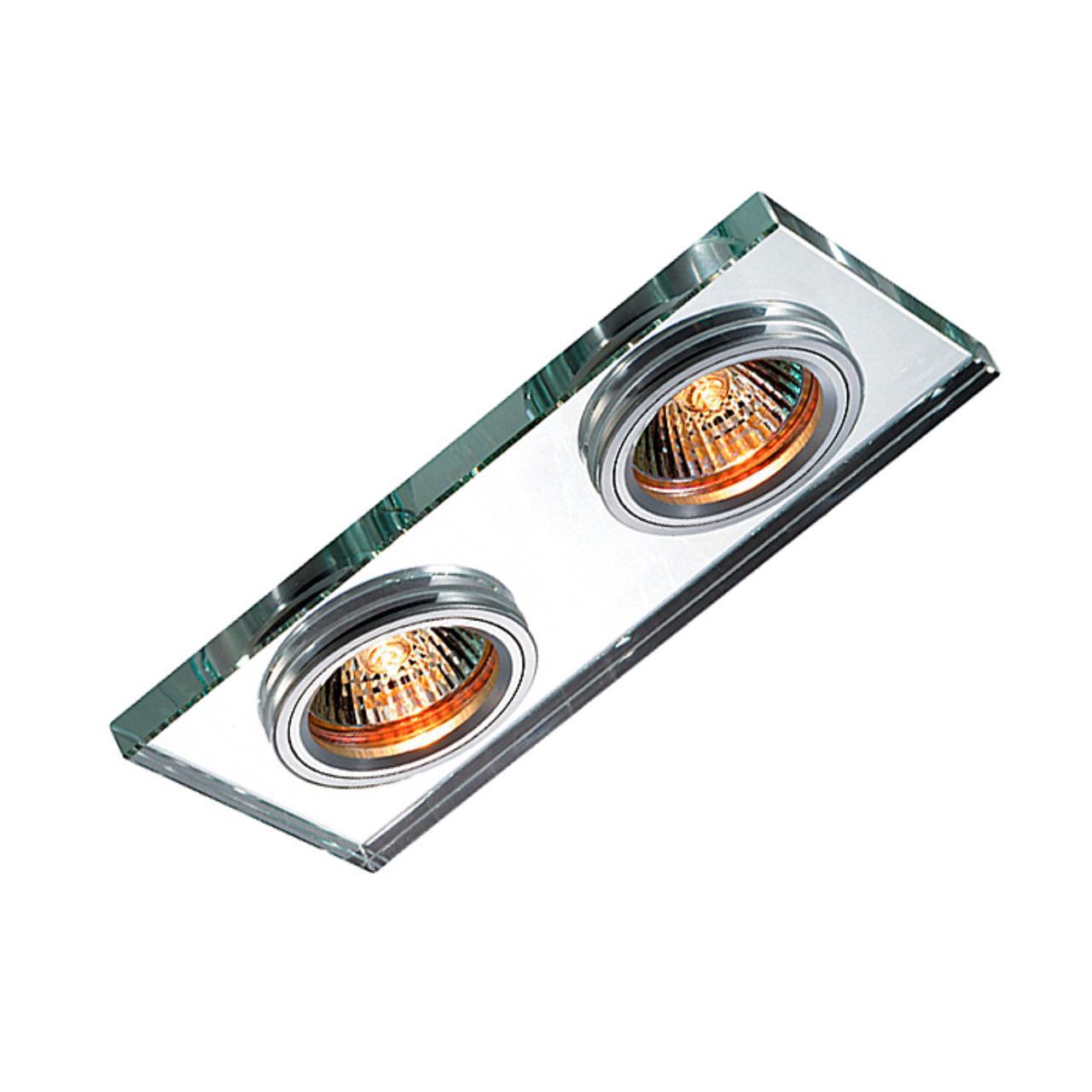 369765 SPOT NT12 131 алюминий/зеркальный Встраиваемый светильник IP20 GX5.3 2*50W 12V MIRROR