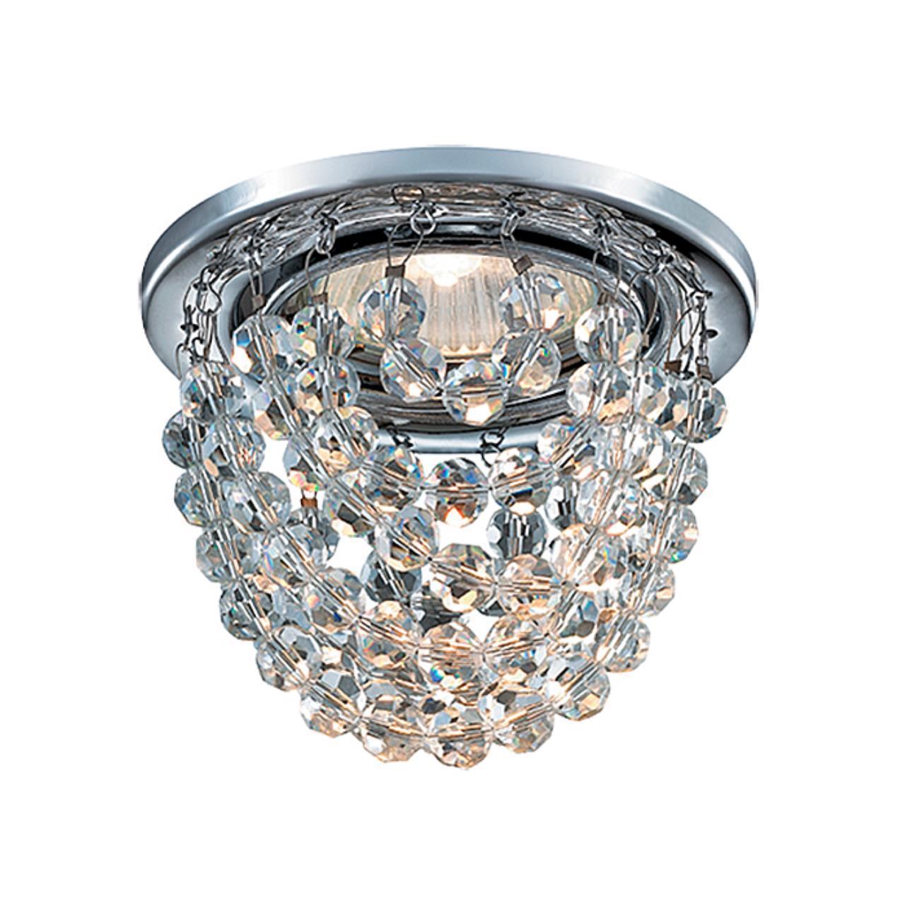 369778 SPOT NT12 123 хром Встраиваемый светильник IP20 GX5.3 50W 12V JINNI