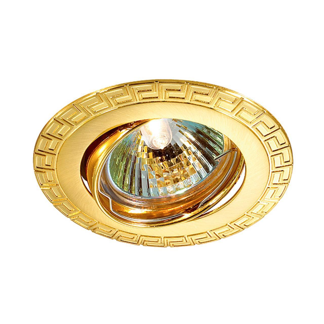 369619 SPOT NT12 136 золото Встраиваемый ПВ светильник IP20 GX5.3 50W 12V COIL