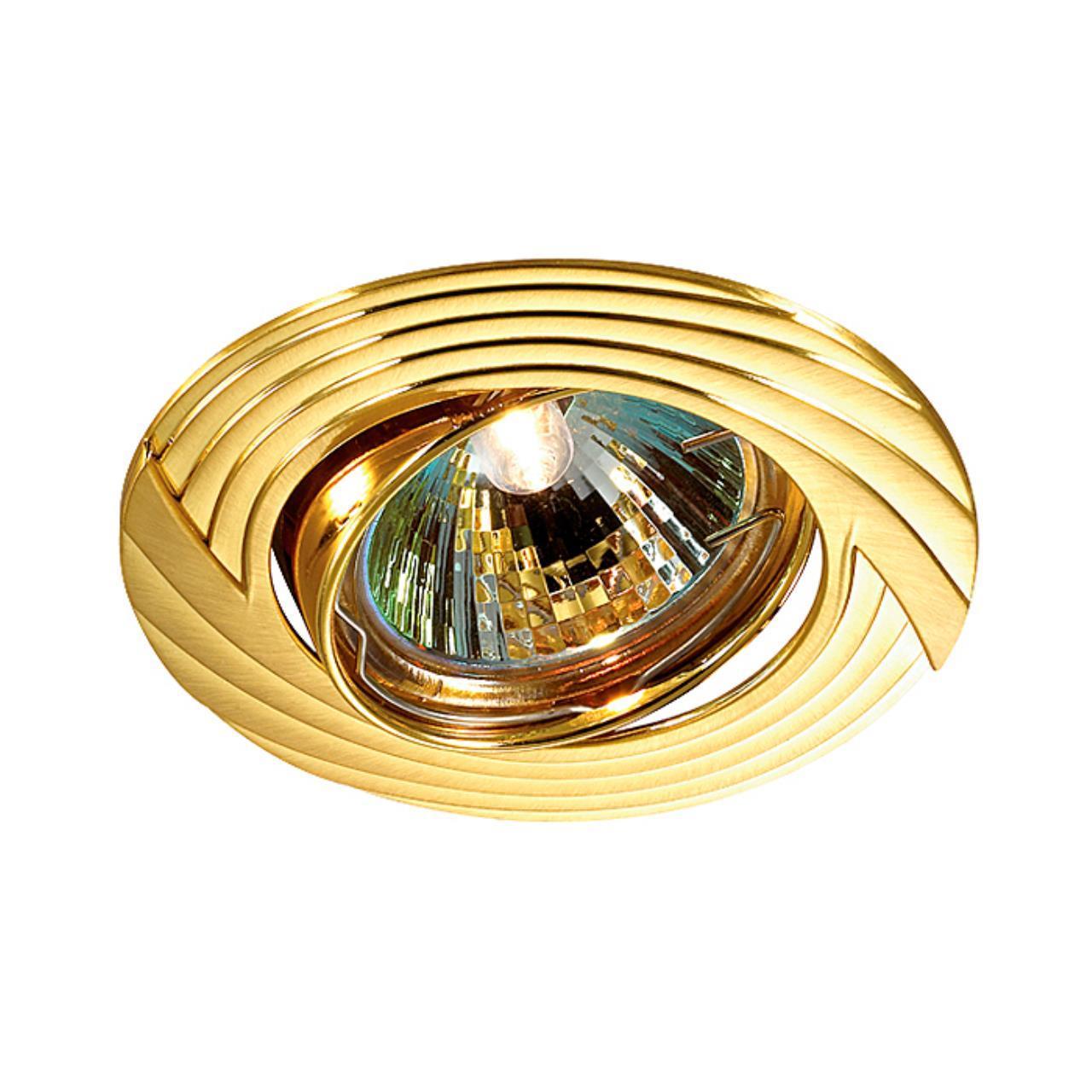 369613 SPOT NT12 134 золото Встраиваемый ПВ светильник IP20 GX5.3 50W 12V TREK