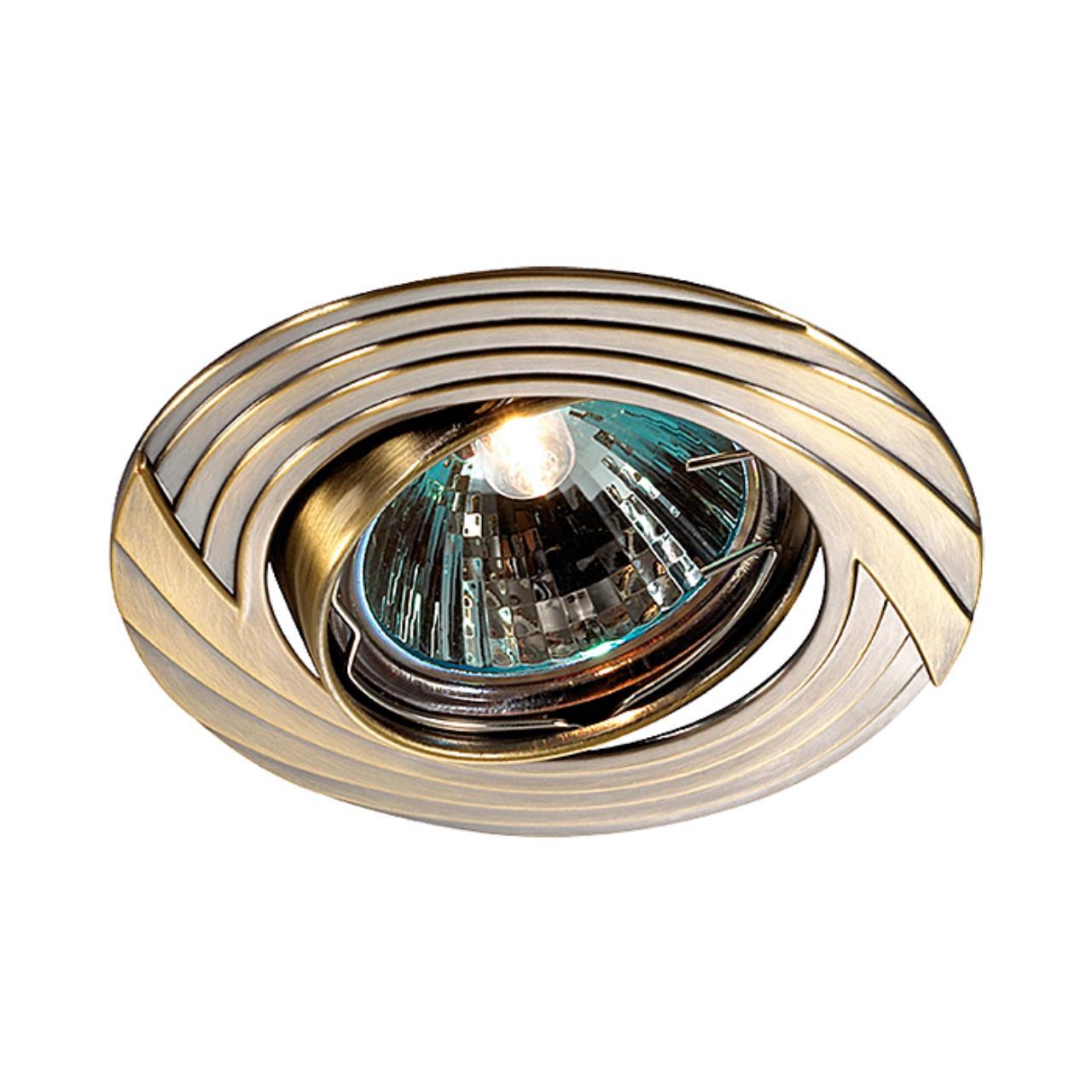 369609 SPOT NT12 134 бронза Встраиваемый светильник ПВ IP20 GX5.3 50W 12V TREK