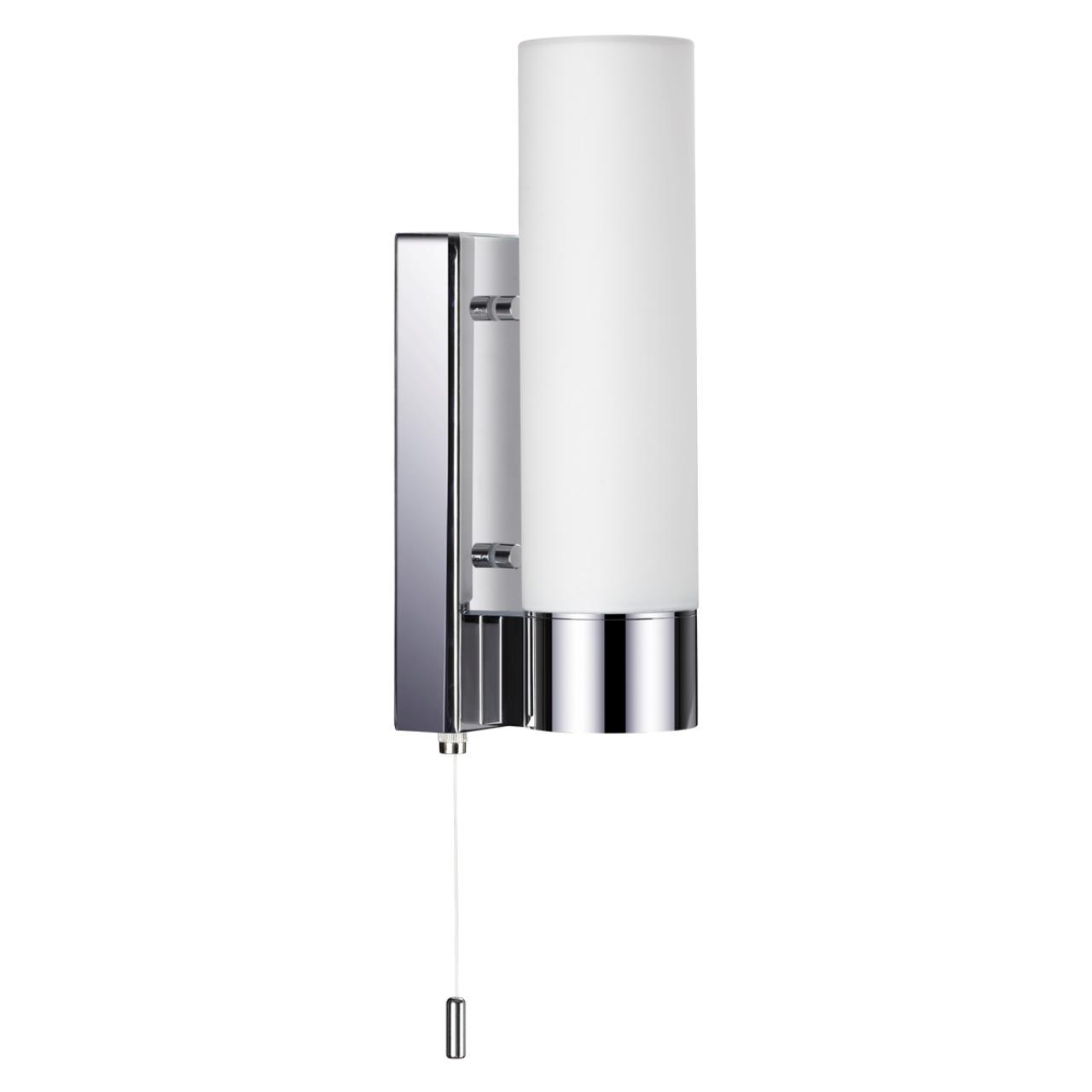 2660/1W DROPS ODL14 655 хром/белый Настенный светильник с выкл IP44 E27 60W 220V TINGO