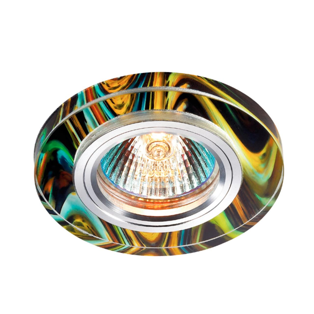 369913 SPOT NT14 128 алюминий/цветной Встраиваемый светильник IP20 GX5.3 50W 12V RAINBOW