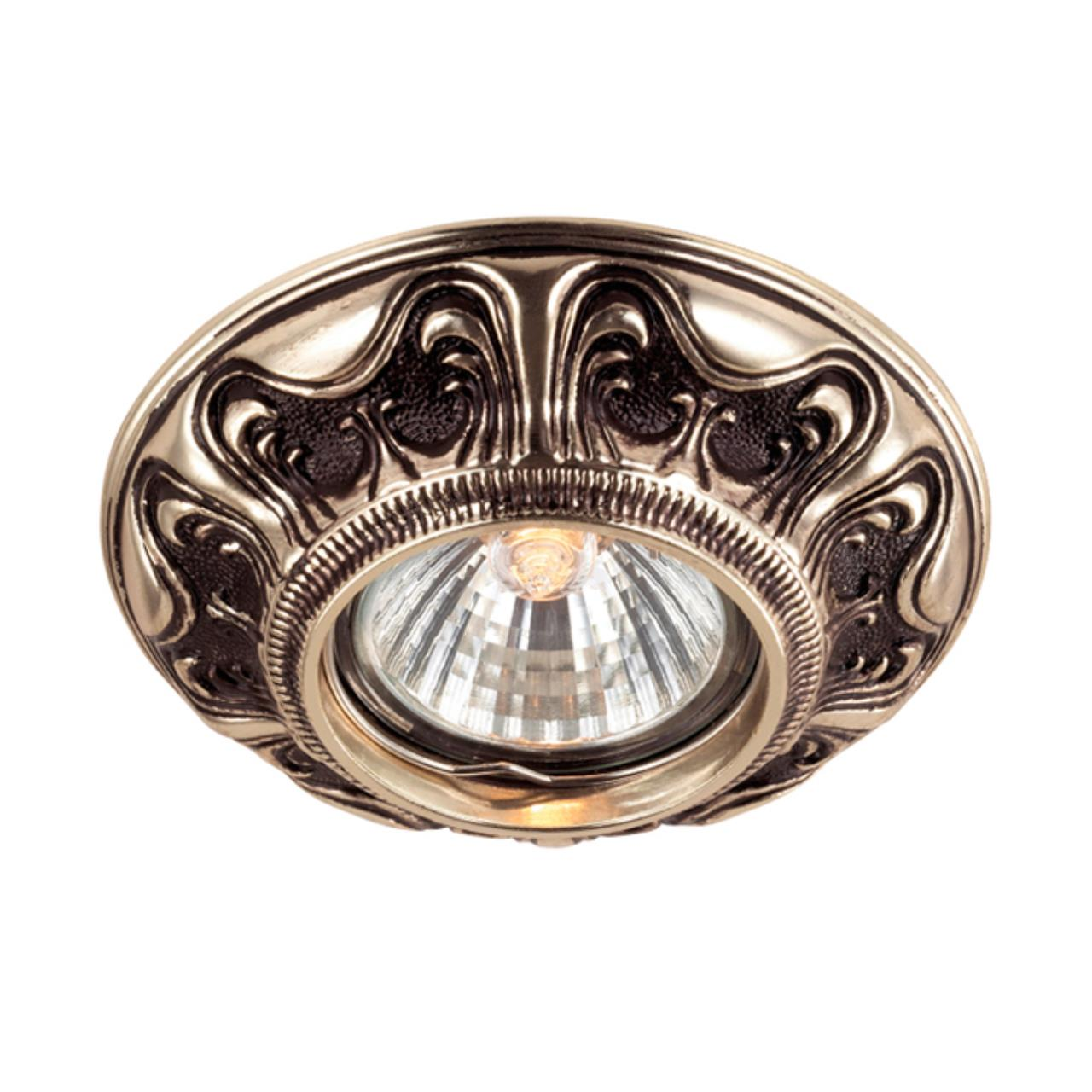369854 SPOT NT14 118 коричневый/золото Встраиваемый светильник IP20 GX5.3 50W 12V VINTAGE