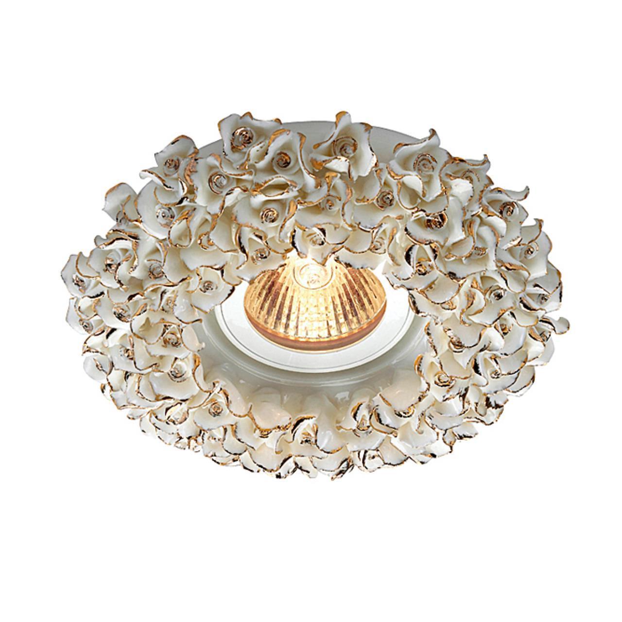 369949 SPOT NT14 120 белый/золото Встраиваемый светильник IP20 GX5.3 50W 12V FARFOR