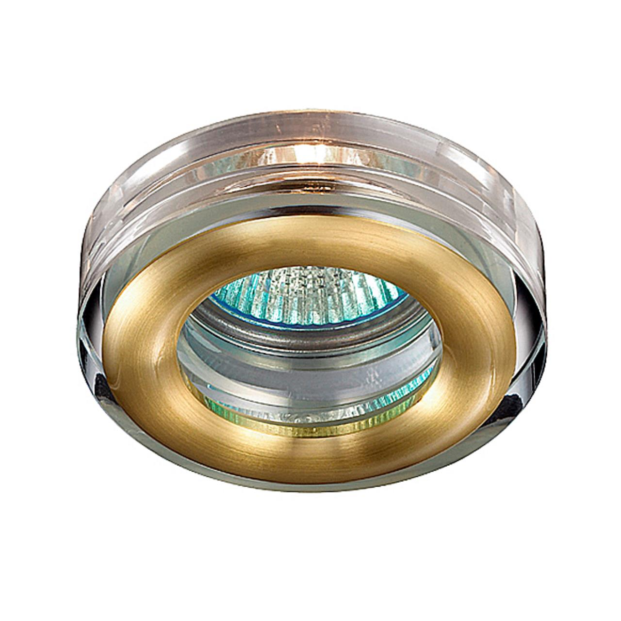 369881 SPOT NT14 138 матовое золото Встраиваемый светильник IP54 GX5.3 50W 12V AQUA
