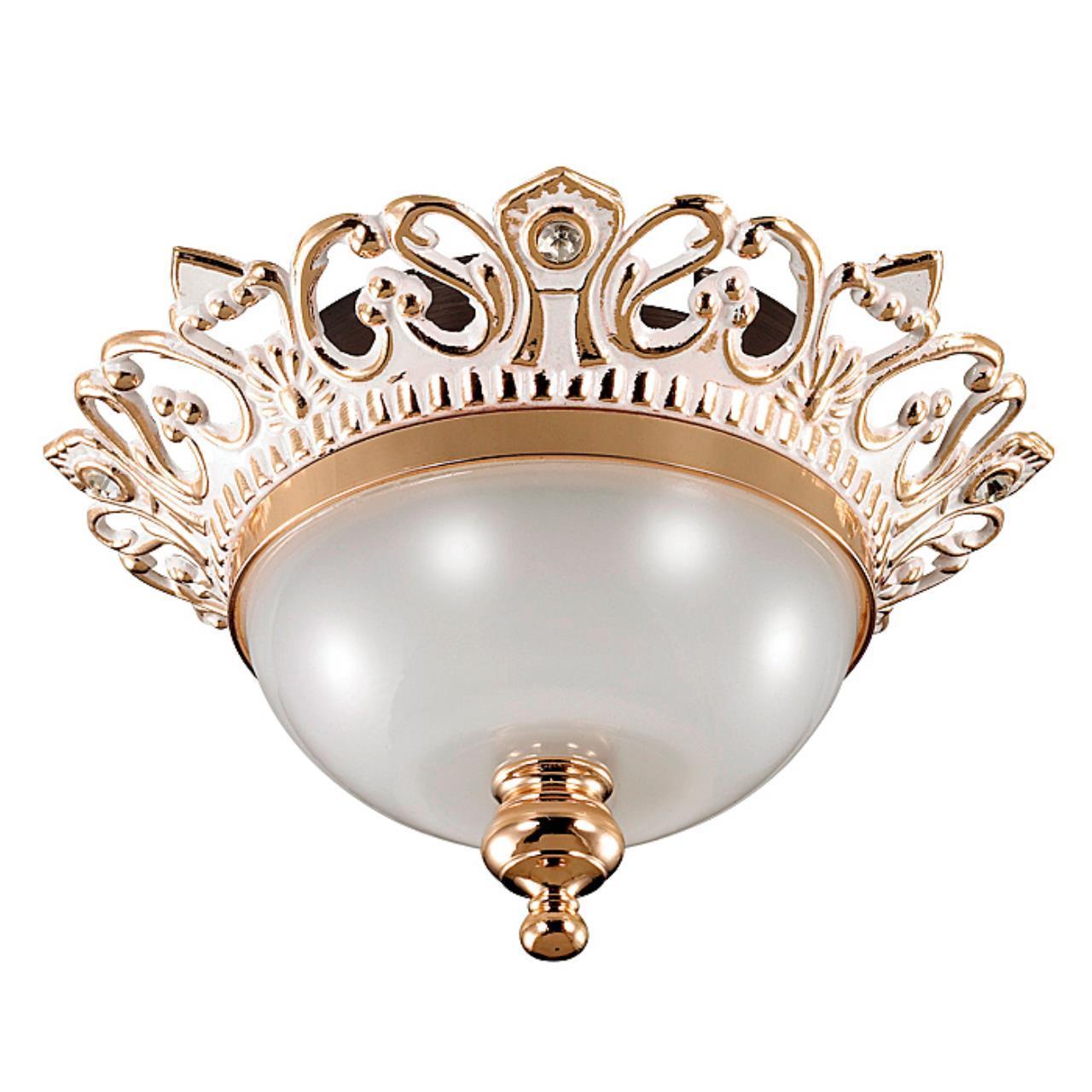369983 SPOT NT15 124 белый/золото/стекл.матов.плафон Встраиваемый св-к IP20 GX5.3 50W 12V BAROQUE