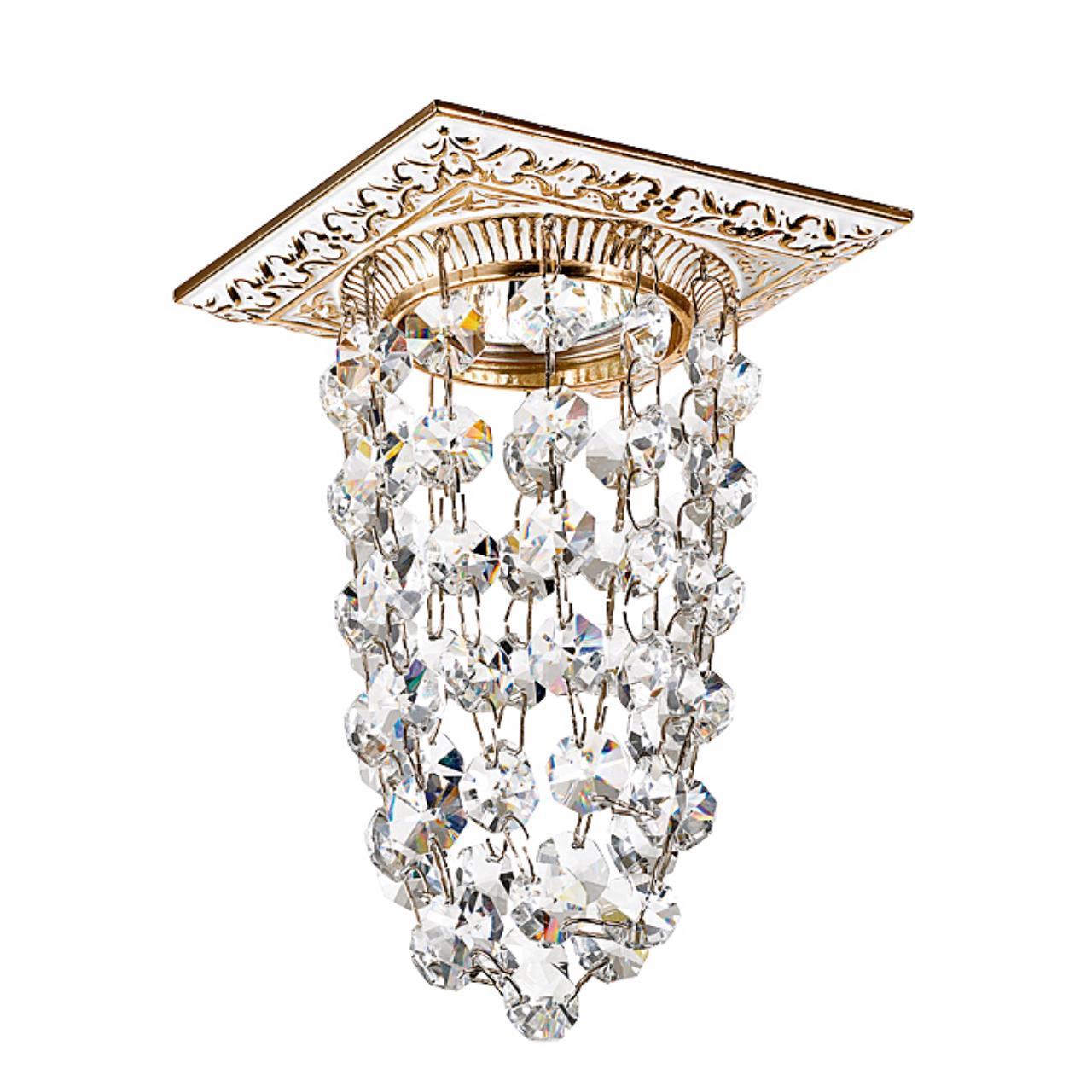 369994 SPOT NT15 116 белый/золото/хрусталь Встраиваемый светильник IP20 GX5.3 50W 12V GRAPE