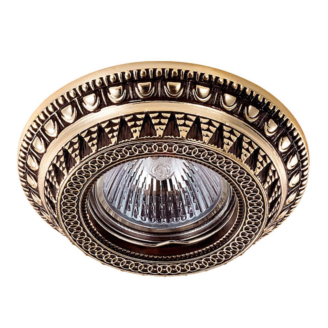 370008 SPOT NT15 118 коричневый/золото Встраиваемый светильник IP20 GX5.3 50W 12V VINTAGE