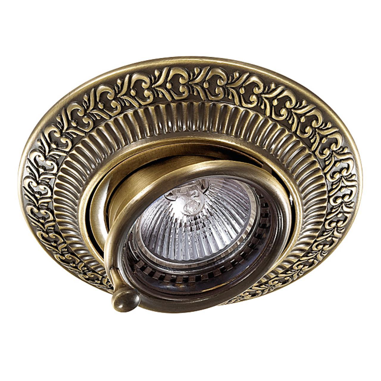 370015 SPOT NT15 119 бронза Встраиваемый светильник IP20 GX5.3 50W 12V VINTAGE