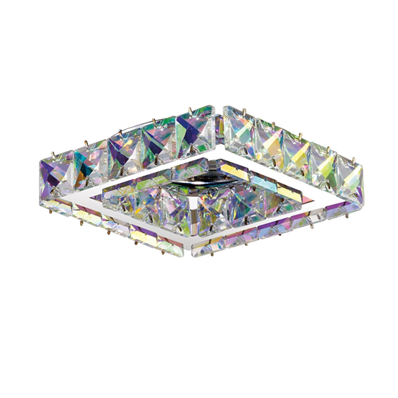 370171 SPOT NT15 124 хром/цветной хрусталь Встраиваемый светильник IP20 GX5.3 50W 12V NEVIERA
