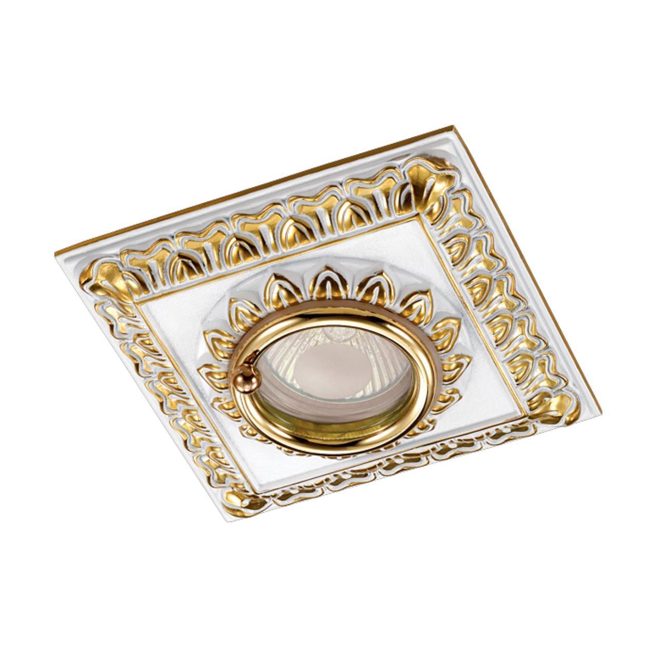 370047 SPOT NT15 139 белый/золото Встраиваемый светильник IP44 GX5.3 50W 12V DAISY