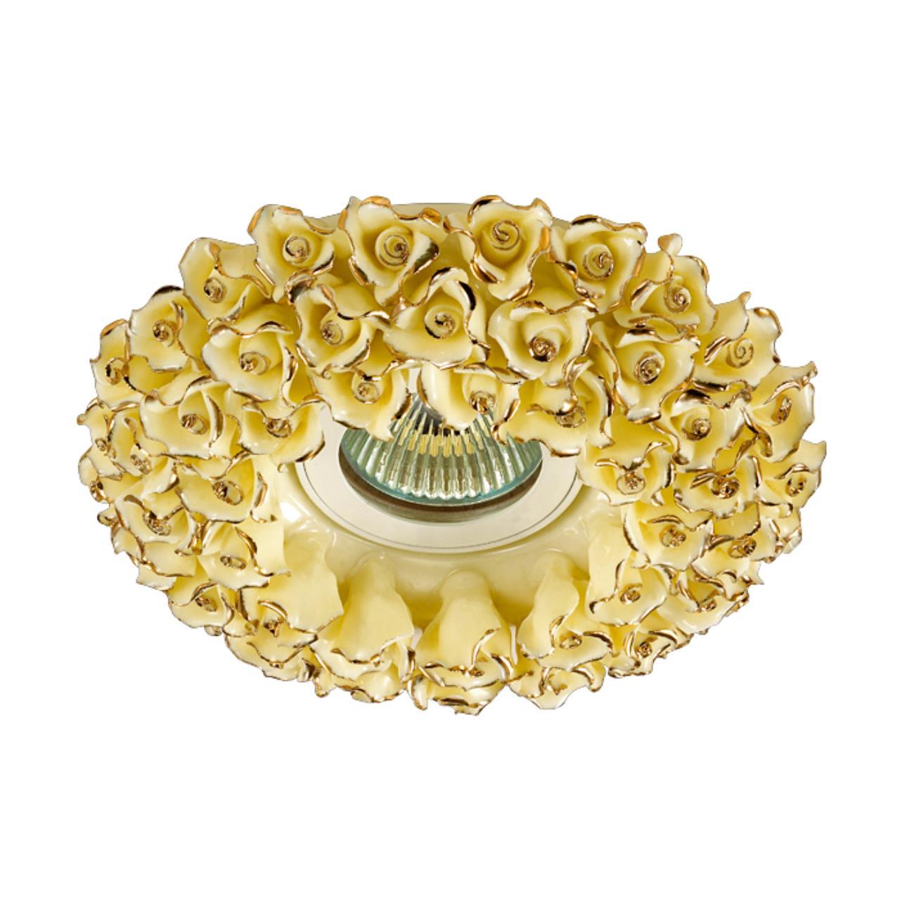 370045 SPOT NT15 120 желтый/золото Встраиваемый светильник IP20 GX5.3 50W 12V FARFOR