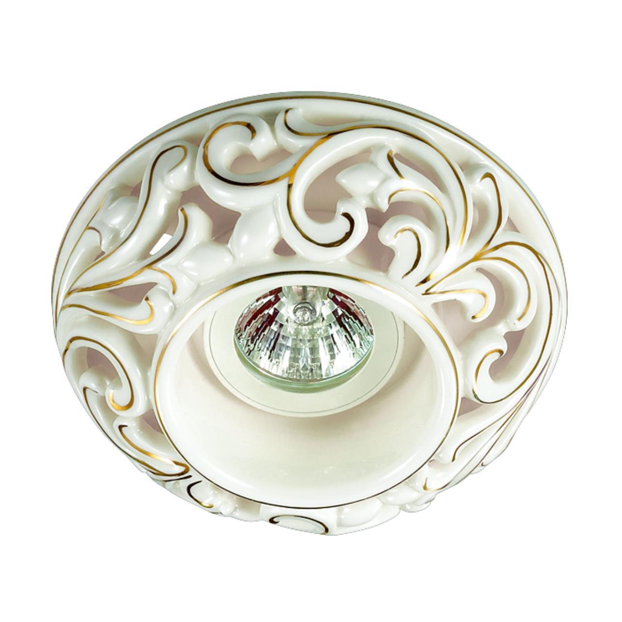 370195 SPOT NT16 121 белый/золото Встраиваемый декоративный светильник IP20 GX5.3 50W 12V OLA