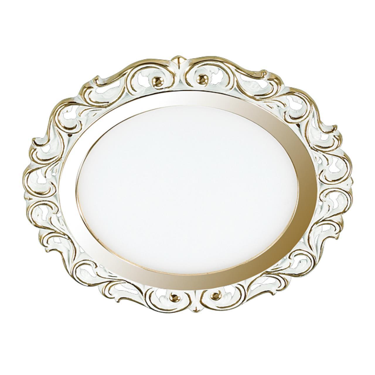 357263 SPOT NT16 418 белый/золото Встраиваемый светильник IP20 LED 3000К 9W 220-240V PEILI