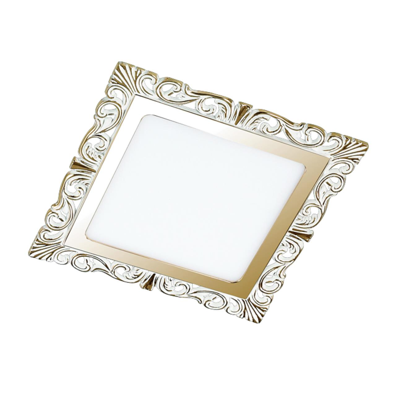 357278 SPOT NT16 141 белый/золото Встраиваемый светильник IP20 LED 3000K 9W 220-240V PEILI