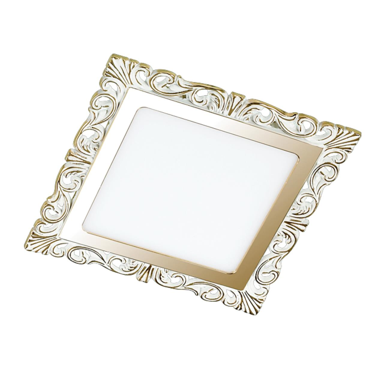 357279 SPOT NT16 141 белый/золото Встраиваемый светильник IP20 LED 3000K 12W 220-240V PEILI