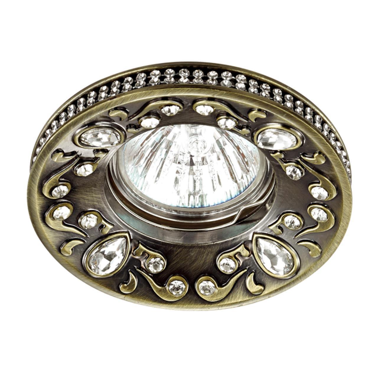 370235 SPOT NT16 128 бронза Встраиваемый декоративный светильник IP20 GX5.3 50W 12V ERBA