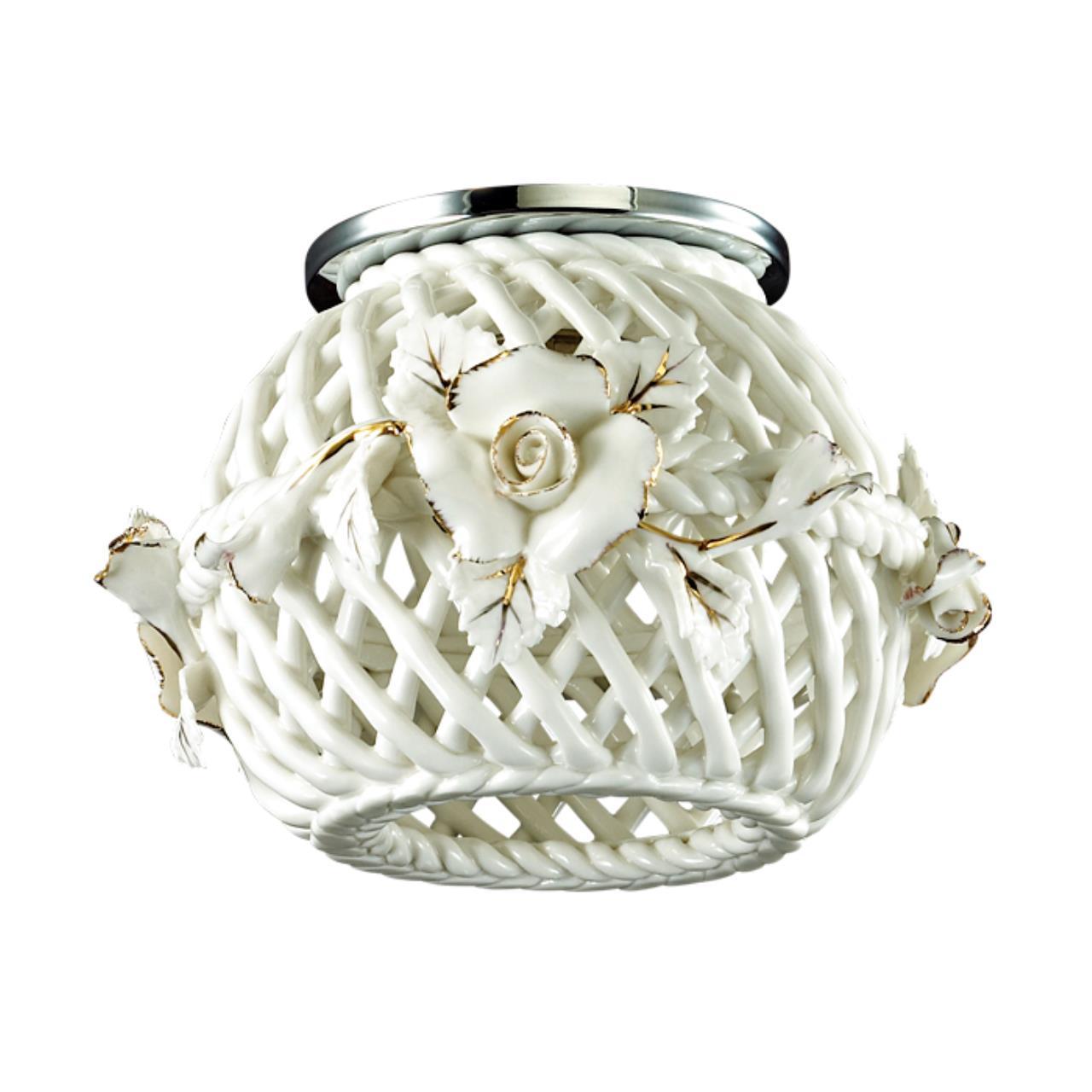 370207 SPOT NT16 120 белый/золото Встраиваемый декоративный светильник IP20 G9 40W 220V FARFOR