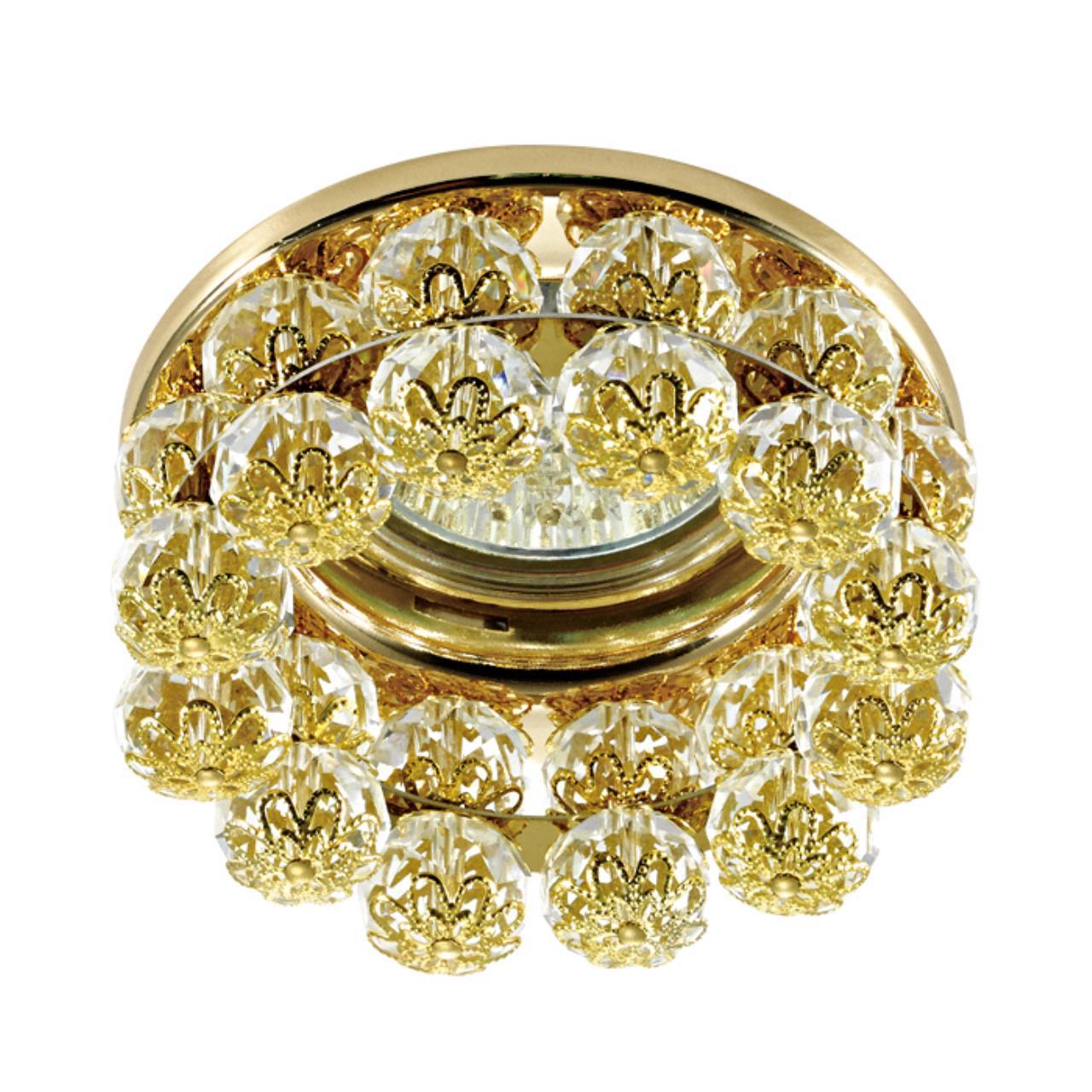 370228 SPOT NT16 123 золото Встраиваемый декоративный светильник IP20 GX5.3 50W 12V MALINY