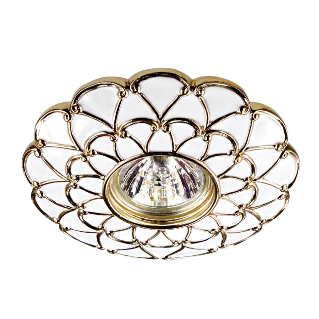 370223 SPOT NT16 115 белый/золото Встраиваемый декоративный светильник IP20 GX5.3 50W 12V PATTERN