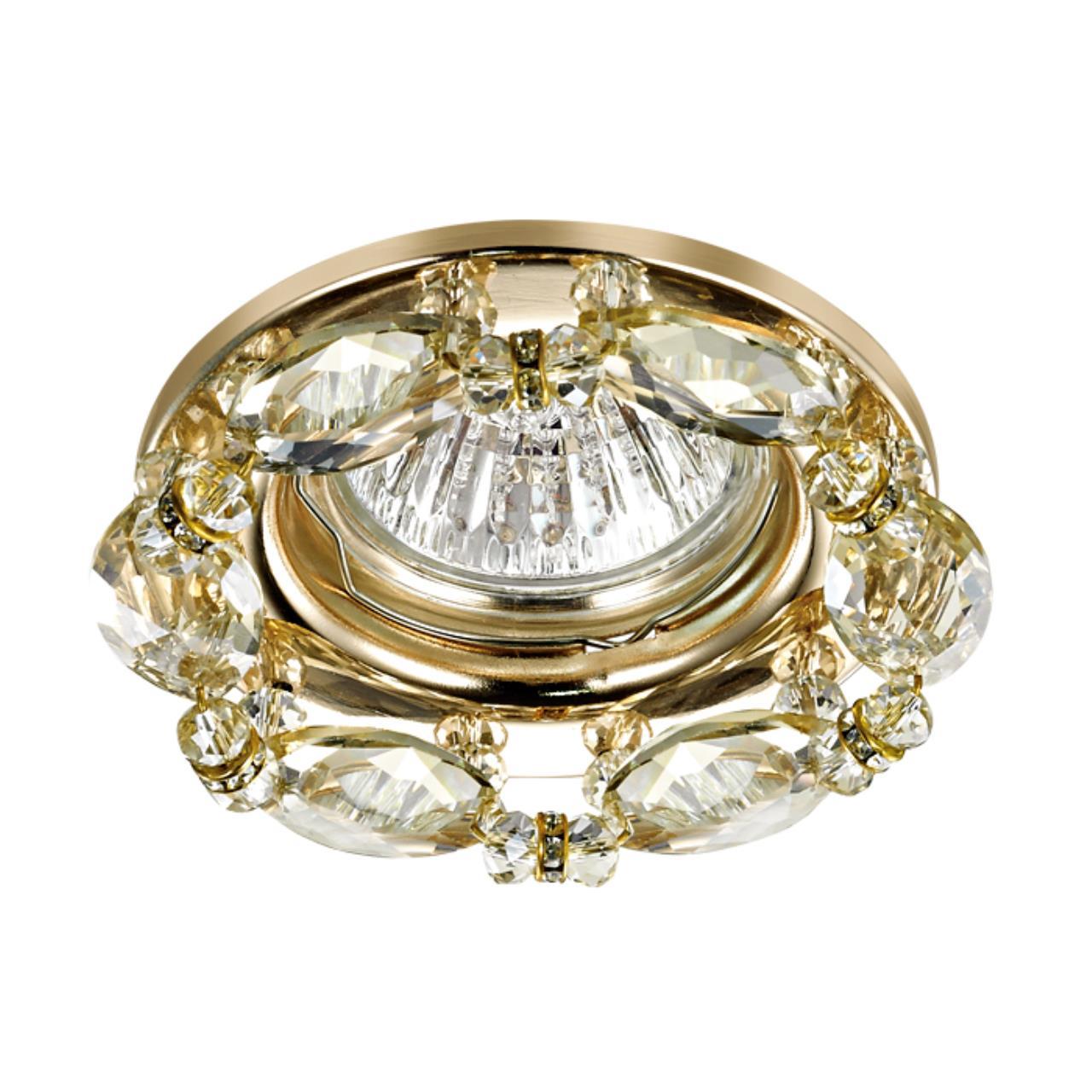 370230 SPOT NT16 123 золото Встраиваемый декоративный светильник IP20 GX5.3 50W 12V VIK