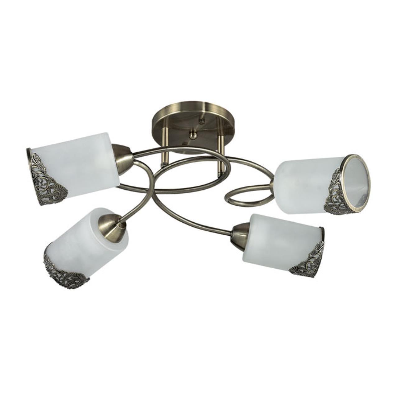 3012/4C COMFI LN16 192 бронзовый/стекло/метал. декор Люстра потолочная E27 4*40W 220V CITADELLA