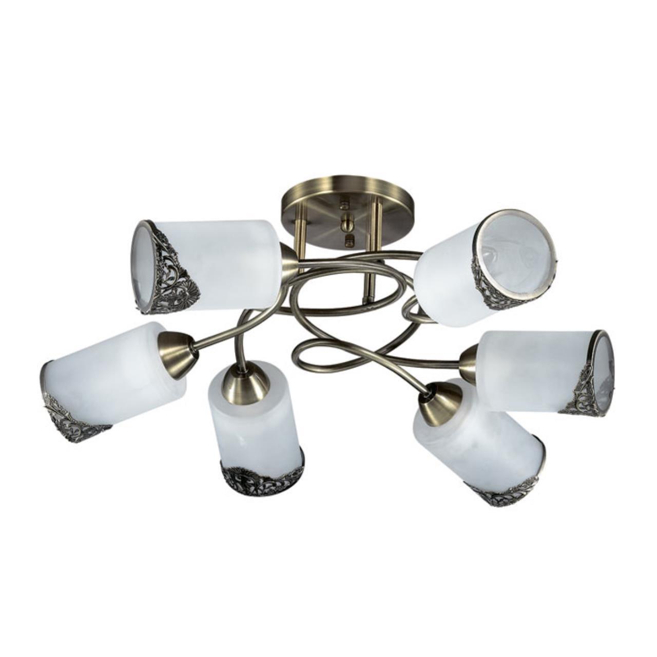 3012/6C COMFI LN16 192 бронзовый/стекло/метал. декор Люстра потолочная E27 6*40W 220V CITADELLA