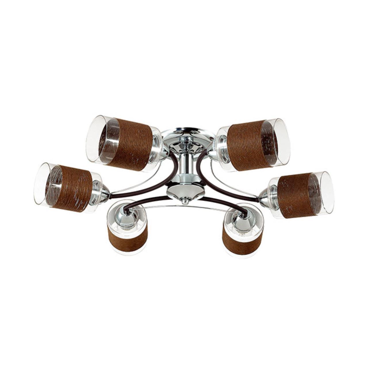 3030/6C COMFI LN16 170 хром/кофе/стекло/декор.тесьма Люстра потолочная E27 6*60W 220V FILLA