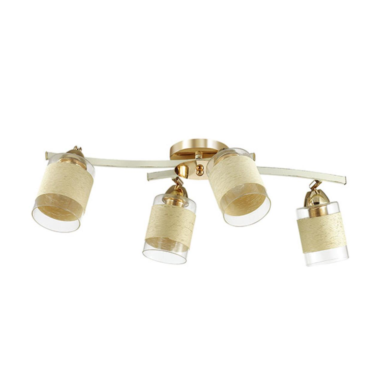 3029/4CA COMFI LN16 168 золото/беж/стекло/декор.тесьма Люстра потолочная E27 4*60W 220V FILLA